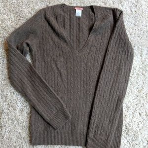 J. Crew v neck cashmere sweater.